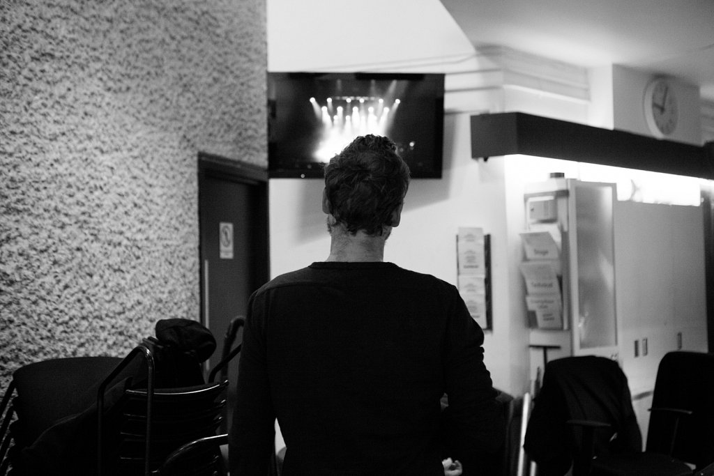 Backstage at the Barbican with Winged Victory For The Sullen - Barbican Centre, London 12/12/15
